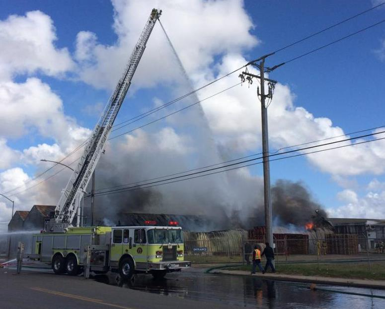 Warehouse fire in Santa Maria sends up smoke visible for miles