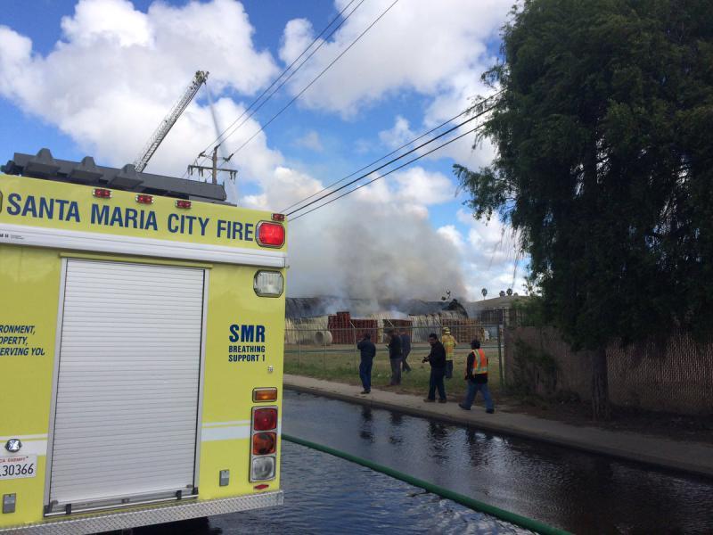 Fire destroys warehouse on Central Coast