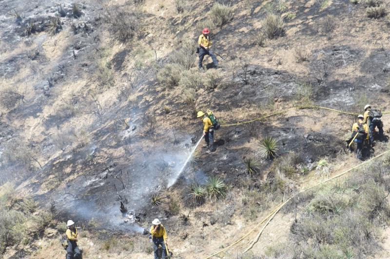 Brush fire blackens about 60 acres of land in the Santa Ynez Valley Thursday afternoon