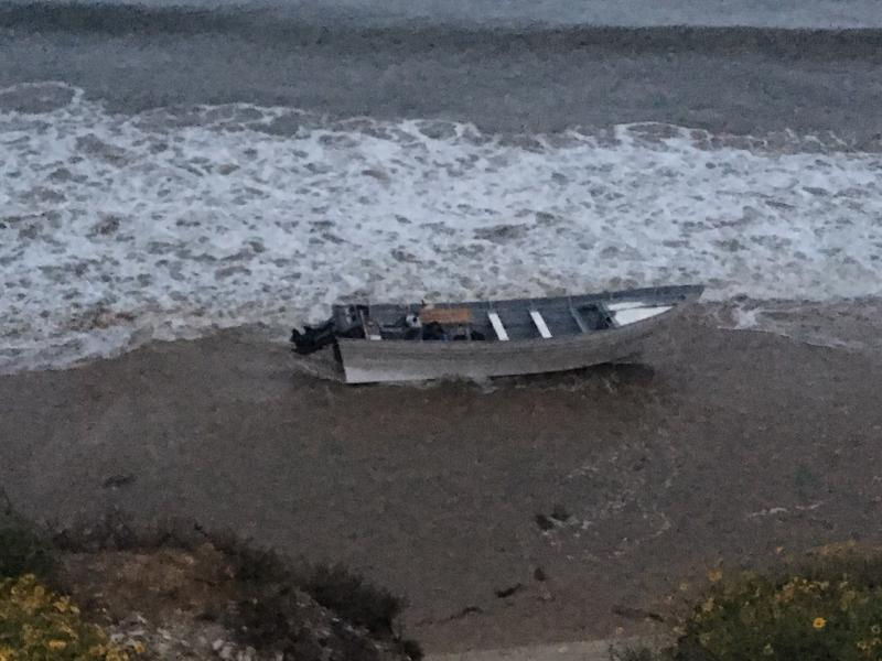 A panga boat was seized on the Santa Barbara County coastline Saturday