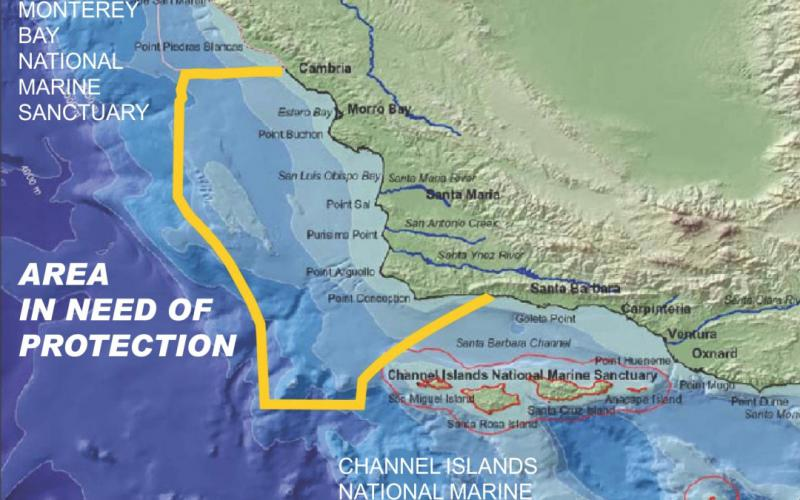 Map of proposed offshore sanctuary created by project proponents