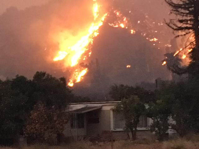 The Thomas Fire near Fillmore in December of 2017