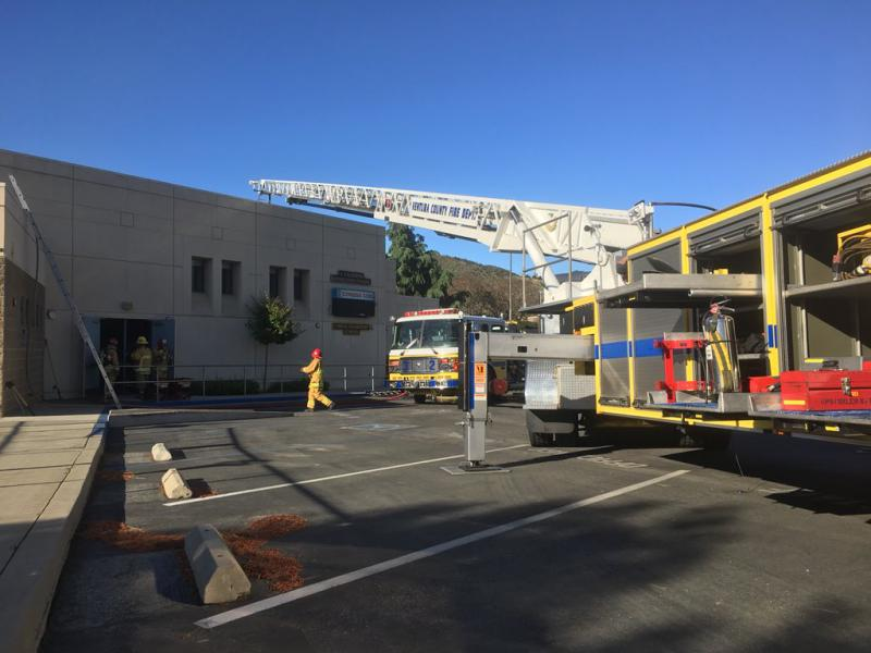 Fire hits Newbury Park elementary school; Quickly knocked down by Ventura County firefighters