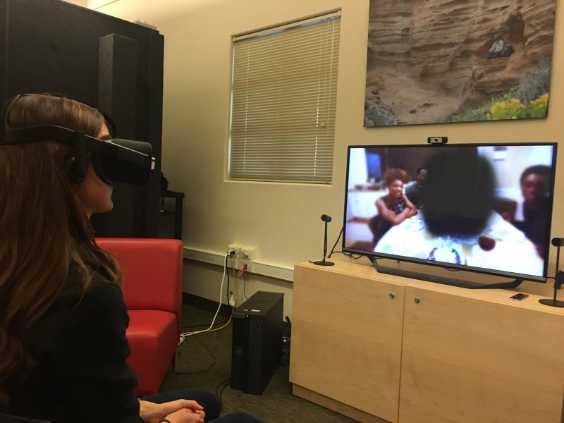 CSUCI Nursing student Lisa Agor participates in virtual reality program