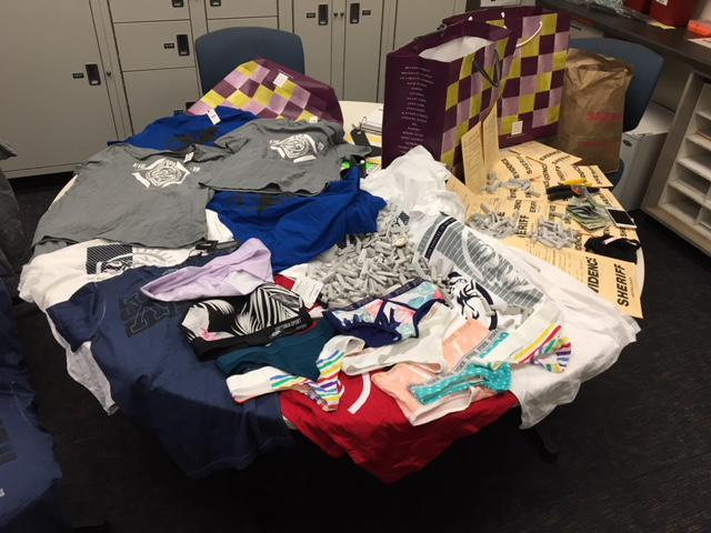 Items recovered for what Ventura County Sheriff's detectives say was organized retail store theft ring