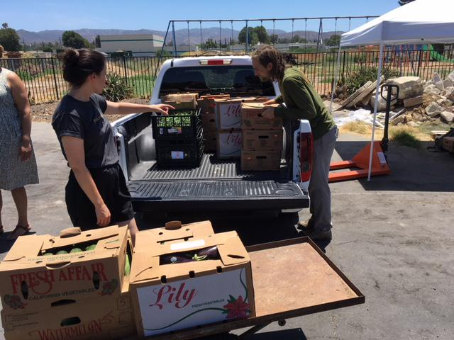 Some non-profits come to the Simi Free Farmers market to ge food for people they serve.