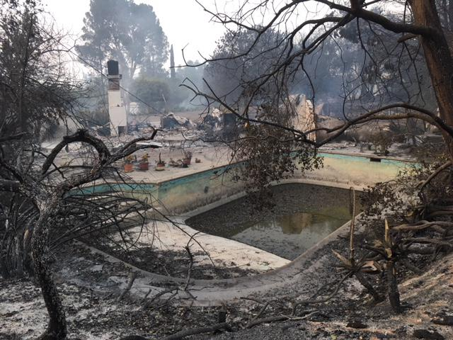 One of the 13 homes lost in Santa Barbara County's Holiday Fire
