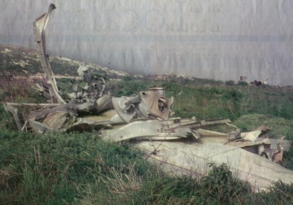 Wreckage from a July 5th, 1943 plane crash on San Miguel Island, in the Channel Islands which killed 12 military aviators