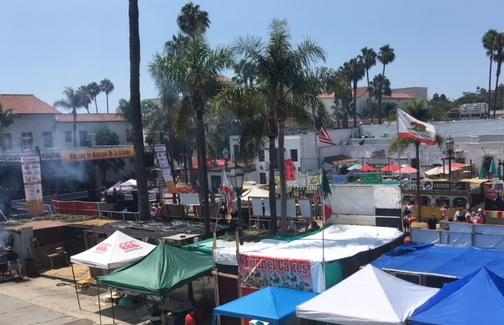 "Santa Barbara's De La Guerra Plaza is home of one of Fiesta's ""Mercados,"" or marketplaces which serves up all kinds of food."