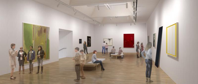 Artist's rendering of one of the new Santa Barbara Museum of Art galleries