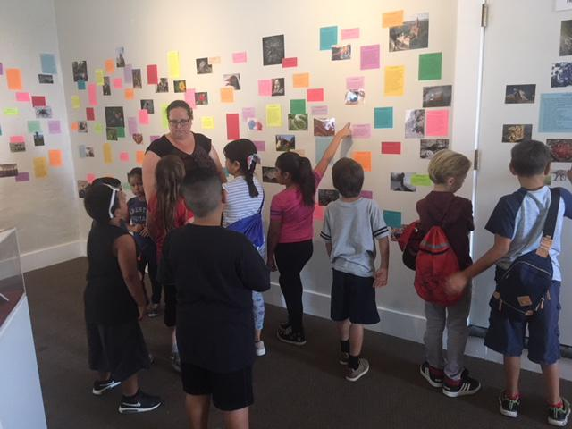 Kids with the Boys And Girls Club In Santa Paula visit the California Oil Museum's new exhibition of wacky facts