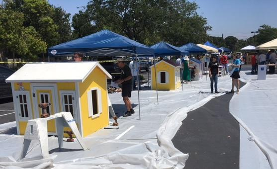 Habitat for Humanity worked with 300 Realtor.com employees in Westlake Village to build playhouses for some local military families