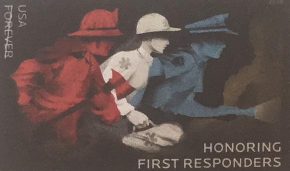 The new stamp honoring first responders around the country