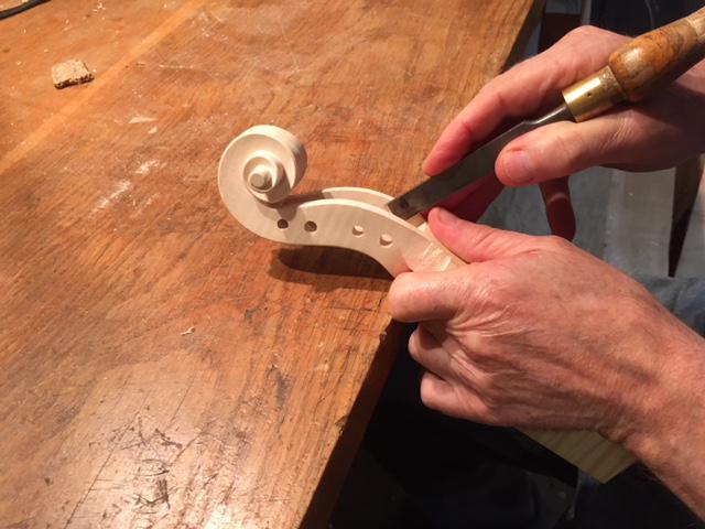 Lisus uses personally selected wood from forests in Eirope to make violins, as well as violas and cellos.