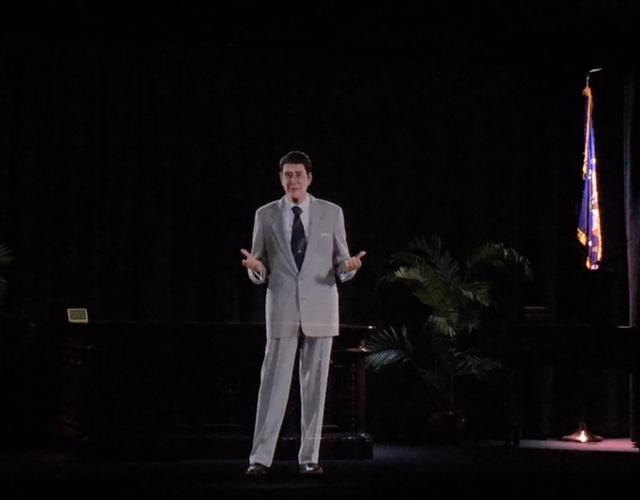 Hologram of Ronald Reagan which is part of new exhibition at Presidential Library in Simi Valley