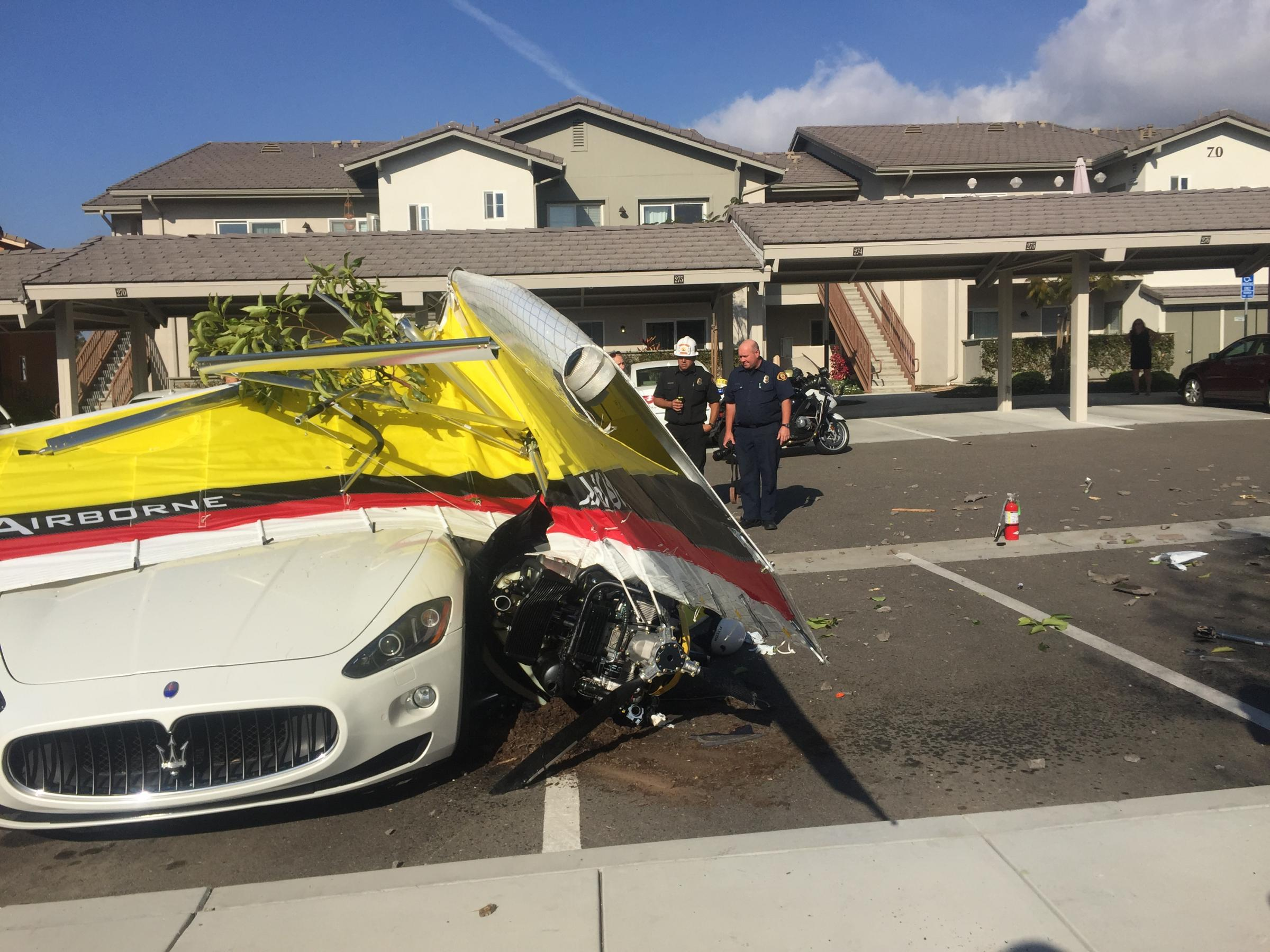 The pilot of a small ultralight aircraft was killed when it crashed shortly after takeoff Tuesday morning from Santa Barbara Airport