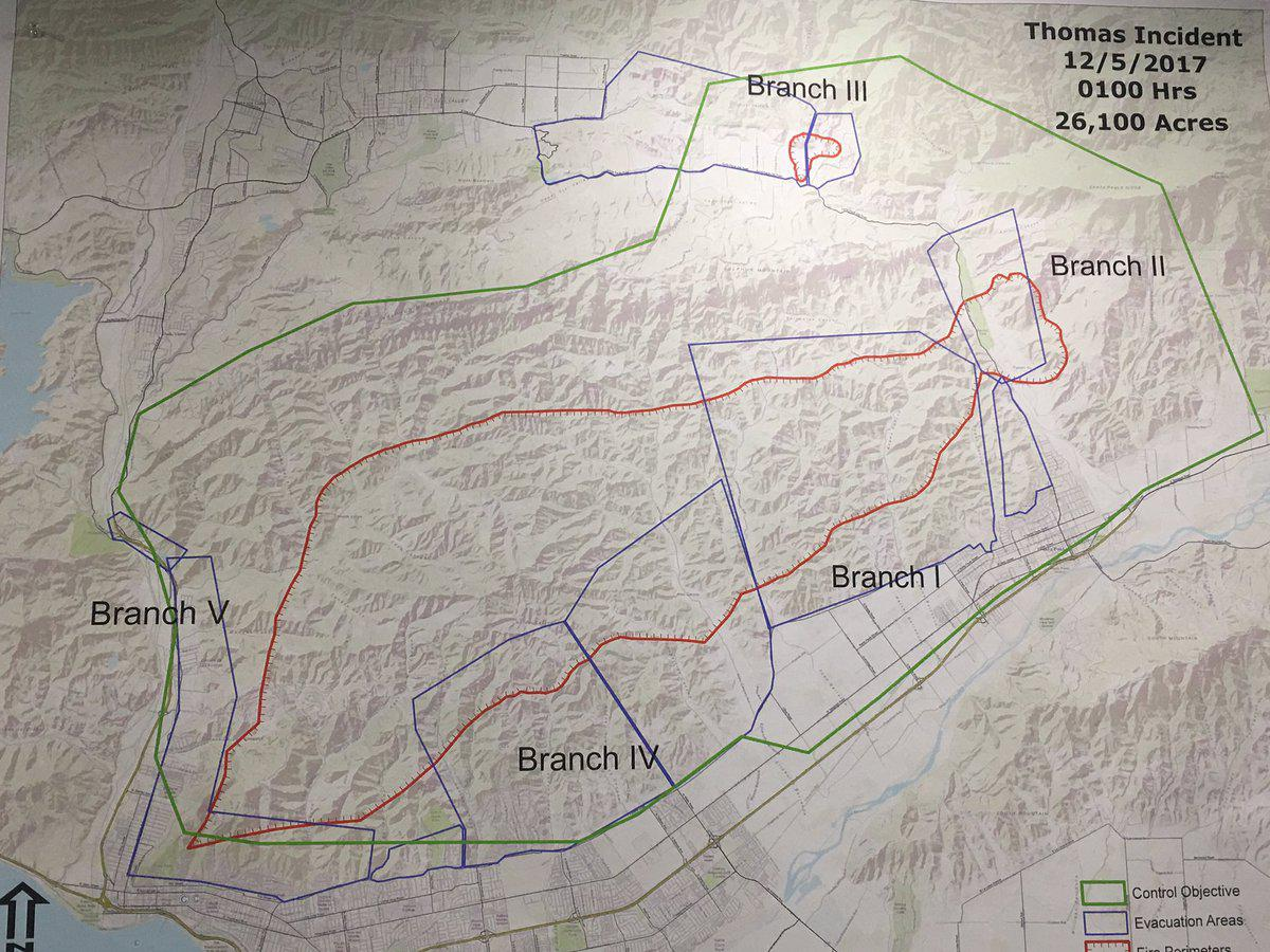 Thomas Fire Expands To 26 000 Acres Some Homes Lost Kclu