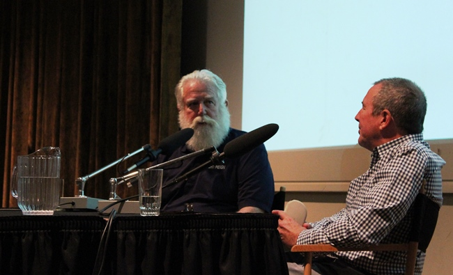 artist james turrell talked with collector mark booth before the