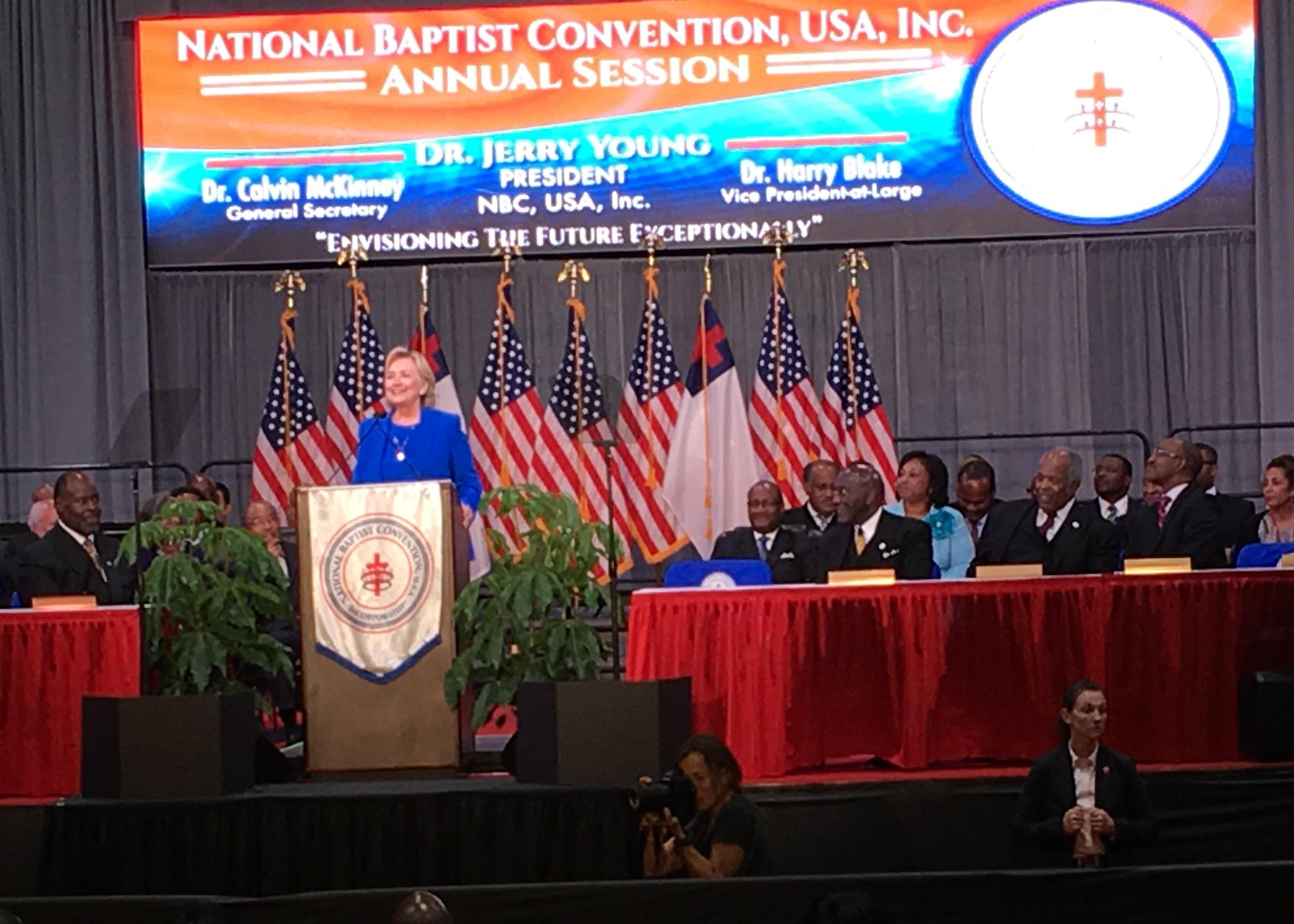 Kansas morris county dwight - Clinton Gets Spiritual At National Baptist Convention In Kansas City