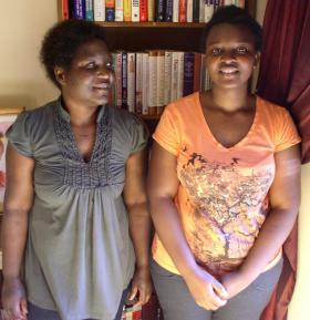 Bester Seemani (L) and her daughter Sue (R)