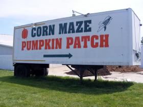 Raasch advertised the opening of Carolyn's Country Cousins in 1991 by leaving flyers on minivans in the parking lot of the local Wal-Mart. Even today, the Raasches rely mainly on home-grown advertising methods such as this sign painted on the side of the trailer.