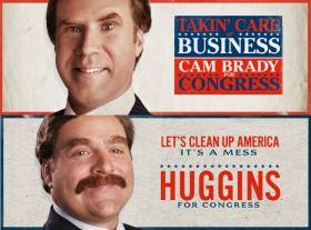Will Ferrell and Zach Galifianakis in 'The Campaign' released by Warner Brothers Pictures.