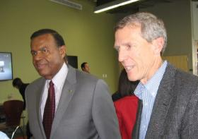 EPA Region7 Administrator Karl Brooks, at right, with UMKC Chancellor Leo Morton.