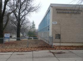 Bingham Junior High School sits vacated east of 77th and Wornall, abutting the Trolley Track Trail in Waldo.