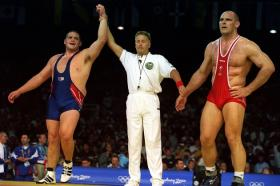 American wrestler Rulon Gardner beat Russian Alexander Karelin in the 2000 Summer Olympic Games