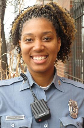 Nicole Wright is a Kansas City, Mo., police officer.