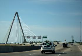 HNTB was involved in building the Kit Bond Bridge.
