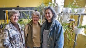Gardeners Adelay Idler, left, Sharon Roberts-Yuen and Debby Greenblatt say happy plants grow best.