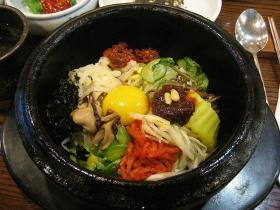 Bibimbap, a hardy and delicious dish.