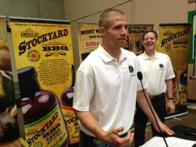 Green Bay Packers Wide Receiver Jordy Nelson in Kansas City, Kansas this weekend. The Kansas native will be the new public face of a marketing campaign for Kansasproducts.