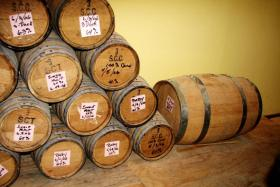 All the flavor in whiskey comes from the barrels.