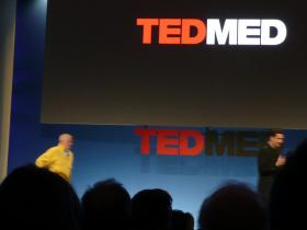 Presenters take the stage at a previous TEDmed event in San Diego, Calif.