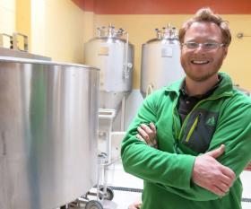 Kyle Carbaugh's Wiley Brewing Company borrows ideas from the local food movement, telling the story of how beer is made. Eventually he'd like to create a fully Colorado-grown glass of beer.