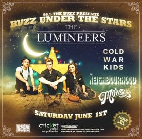 Lumineers with Cold War Kids, the Neighborhood, the Mowglis will perform 4:30 p.m. Saturday, June 1, at Cricket Wireless Amphitheater.
