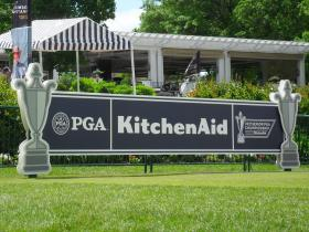 The first tee at the 74th annual Senior PGA Championship gold tournament.