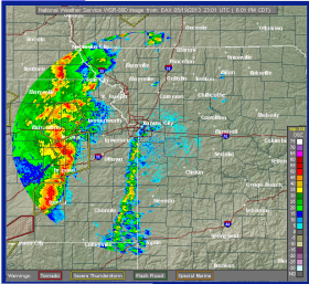 Severe weather is expected across the Kansas City area Sunday night.