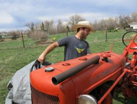 Michael Baute farms three acres in Fort Collins, Colo. One-third of Spring Kite Farms goes to the farm's CSA, or Community Supported Agriculture, clients.