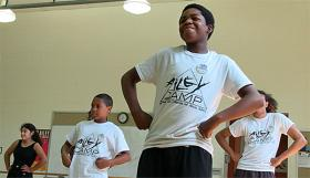 Tyrese Bryant, a 14-year-old Paseo Academy student, at AileyCamp.