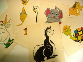 Jac T. Bowen's lithographs for his Wonderland animals. Two remain on display at the Country Club Plaza.