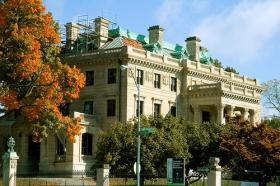The Kansas City Museum is housed at Corinthian Hall in the city's historic northeast. The mansion was built by lumber baron R.A. Long in 1908; it opened as a museum in 1940.