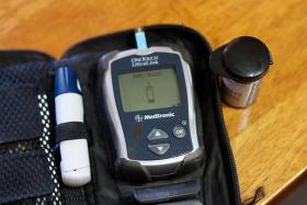 Many diabetics use testing strips daily to test their blood sugar.