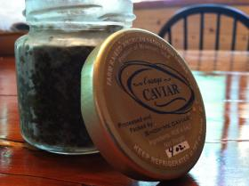 A four ounce jar of caviar from Osage Catfisheries retails for $180, or $45 per ounce.