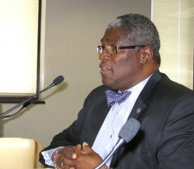 Mayor Sly James gave  marching orders to his Kansas City Charter Review Commission at its first meeting.
