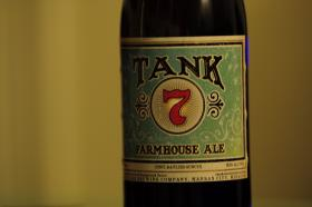 The label for Boulevard Brewing Company's Tank 7 beer.