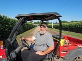 Despite suffering from Guillain-Barre syndrome, Steve Quandt still farms outside Grand Island, Neb.