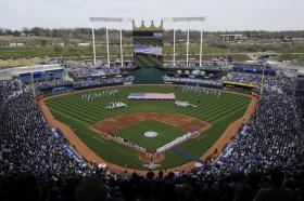 The Kansas City Royals play their home opener Friday at Kauffman Stadium.